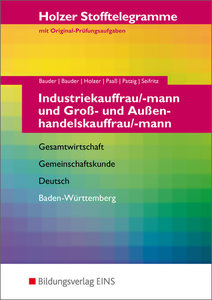 Stofftelegramme Industriekauffrau/mann und Groß- und Außenhandel