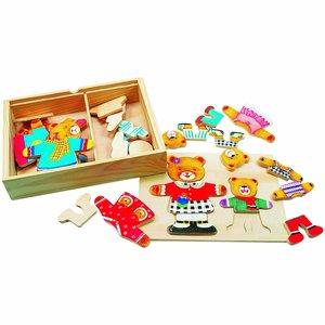 Bino 88023 - Ankleidepuzzle: Mutter und Kind, Puzzle 36 Teile