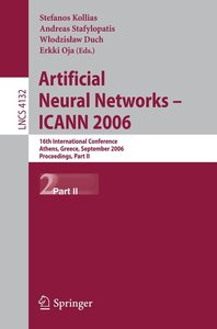 Artificial Neural Networks -- ICANN 2006 Part II