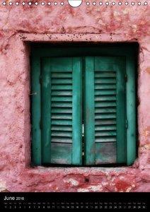Windows and Doors of Greece, UK Version (Wall Calendar 2016 DIN