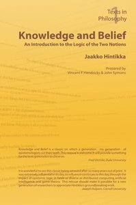Knowledge and Belief - An Introduction to the Logic of the Two N