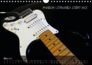 ROCK GUITARS put into the spotlight (Wall Calendar 2015 DIN A4 L
