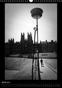 Edinburgh Noir (Wall Calendar 2015 DIN A3 Portrait)