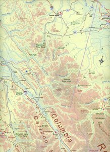 British Columbia South Map 1 : 900 000