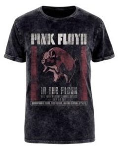 In The Flesh (Acid Wash T-Shirt,Schwarz,XL)