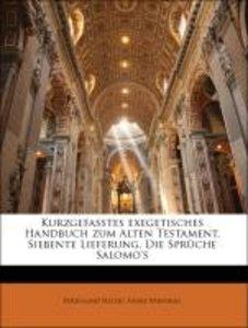 Kurzgefasstes exegetisches Handbuch zum Alten Testament. Siebent
