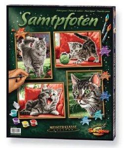 Schipper 609340554 - Katzen Samtpfoten, MNZ 18x24cm