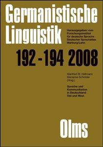 Germanistische Linguistik / Sprache und Kommunikation in Deutsch
