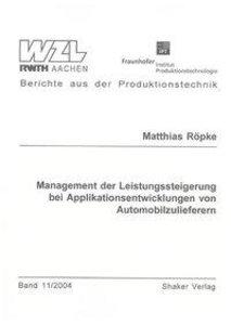 Management der Leistungssteigerung bei Applikationsentwicklungen