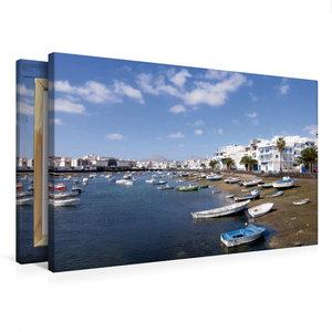Premium Textil-Leinwand 75 cm x 50 cm quer Lanzarote - Arrecife