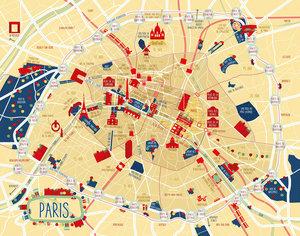 Fettnäpfchenführer Stadt-Poster Paris