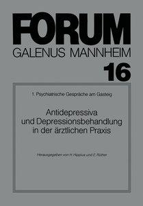 Antidepressiva und Depressionsbehandlung in der ärztlichen Praxi