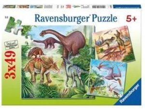 Faszinierende Dinosaurier. Puzzle (3 x 49 Teile)