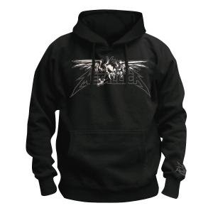 Winged Scary Guy,Kapuzenpullover,Gr.L,Schwarz