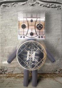 Schrott-Roboter (Tischaufsteller DIN A5 hoch)