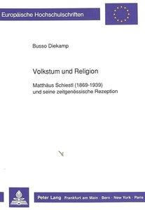 Volkstum und Religion