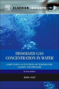 Computation of Dissolved Gas Concentration in Water as Functions