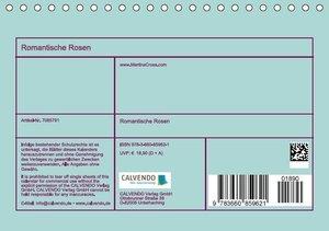 Cross, M: Romantische Rosen (Tischkalender 2015 DIN A5 quer)
