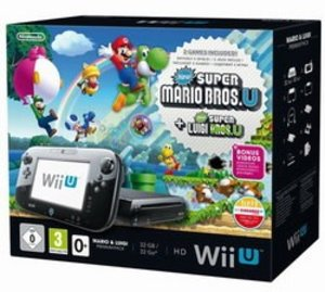 Nintendo Wii U Konsole - Premium Pack - 32 GB, schwarz - Super