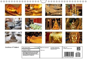 Buddhas of Thailand (Wall Calendar 2016 DIN A4 Landscape)