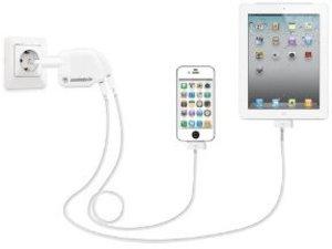 Power:Split ( Aufsatz mit 2 USB Anschlüssen für das originale iP