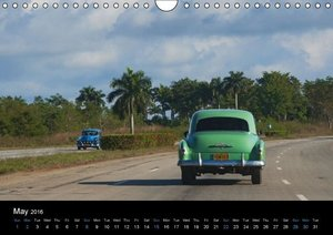 On the road in Cuba (UK-Version) (Wall Calendar 2016 DIN A4 Land