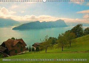 The Swiss Alps by TELL-PASS (Wall Calendar 2015 DIN A3 Landscape