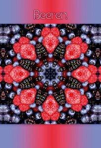 Premium Textil-Leinwand 60 cm x 90 cm hoch Beeren Mandala