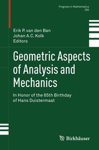 Geometric Aspects of Analysis and Mechanics