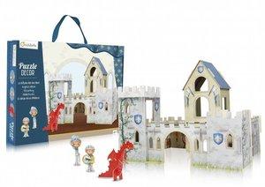 Puzzle 3D Ritterburg zum Aufbauen mit Figuren