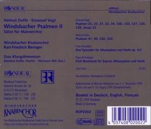 Windsbacher Psalmen 2-Sätze Für Männerch