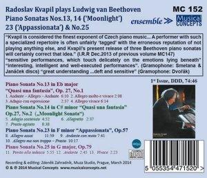 Klaviersonaten 13,14,23,25