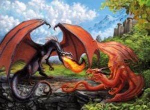 Kampf der Drachen. Puzzle 200 Teile XXL