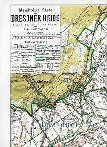 Wanderkarte der Dresdner Heide um 1908