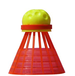 Speedminton® Speedertube FUN, 5 Stück, gelb-orange