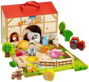 Haba 5581 - Meine erste Spielwelt Bauernhof: Großes Spielset auf