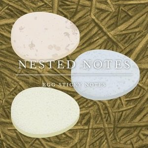 Nested Notes: Egg Sticky Notes. 3 Exemplare