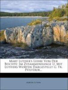 Luther's Lehre von der Beichte.