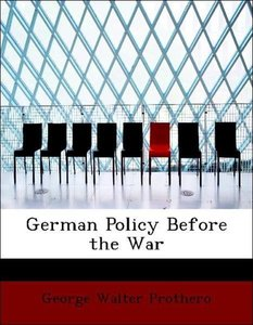 German Policy Before the War