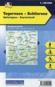 KuF Deutschland Outdoorkarte 05. Tegernsee - Schliersee 1 : 35 0