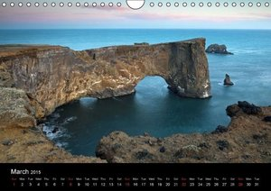 Iceland, UK-Version (Wall Calendar 2015 DIN A4 Landscape)