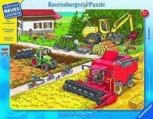 Arbeit auf dem Land früher und heute. Rahmenpuzzle 34 Teile