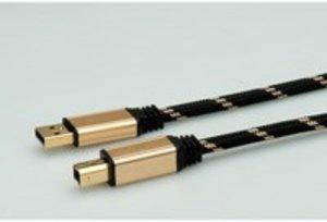 ROLINE GOLD USB 2.0 Kabel, Typ A-B 4,5m