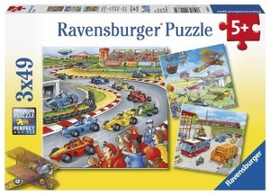 Alles unterwegs. Puzzle 3 x 49 Teile