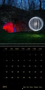 Visions of Light Art Photography (Wall Calendar 2015 300 × 300 m