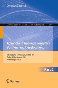 Advances in Applied Economics, Business and Development