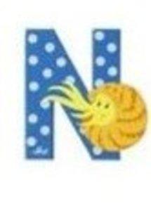 Sevi 81614 - Buchstabe: Nautilus, N