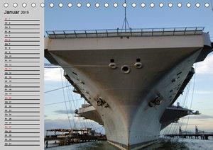 Kriegsschiffe der USA (Tischkalender 2019 DIN A5 quer)