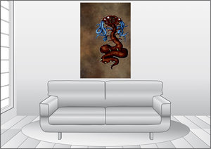 Premium Textil-Leinwand 80 cm x 120 cm hoch Sethmelug