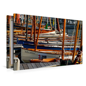 Premium Textil-Leinwand 120 cm x 80 cm quer Port von Vannes